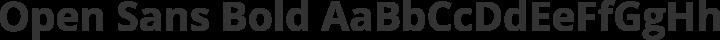 Open Sans Bold free font
