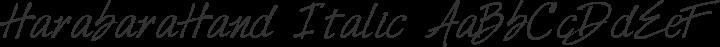 HarabaraHand Italic free font