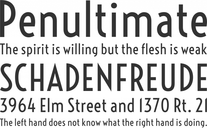 Voltaire Font Phrases