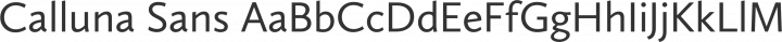 Calluna Sans Regular free font