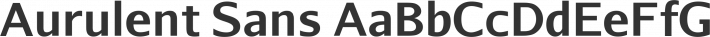 Aurulent Sans font family by Stephen G. Hartke