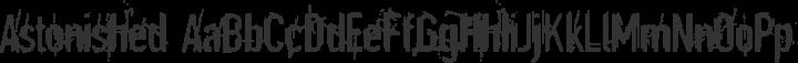 Astonished Regular free font