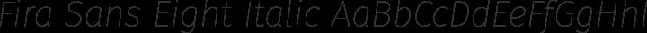 Fira Sans Eight Italic free font