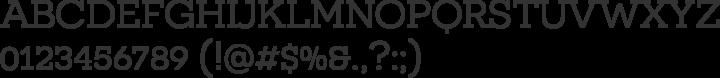 Novecento Slab Font Specimen