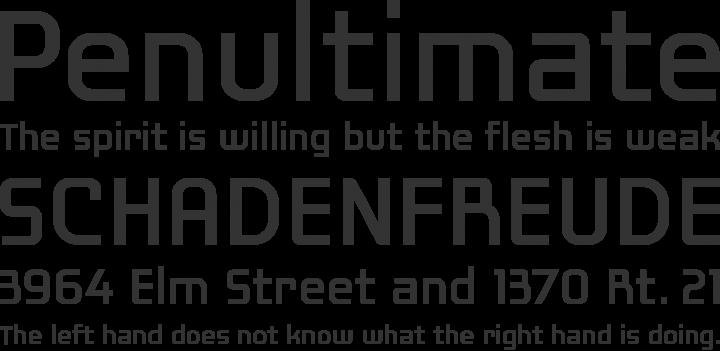 Laconic Font Phrases