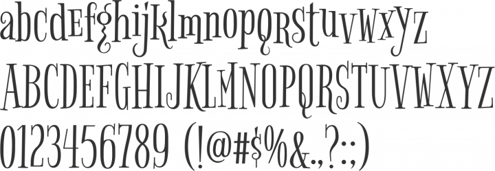 Bigelow Rules Font Specimen