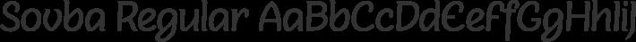 Sovba Regular font family by insigne design
