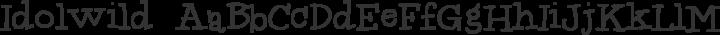 Idolwild Regular free font