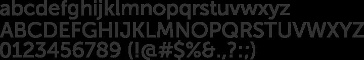 Museo Sans Font Specimen