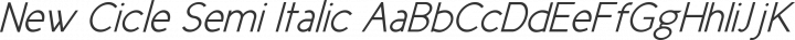 New Cicle Semi Italic free font