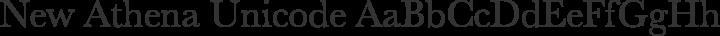 New Athena Unicode Regular free font