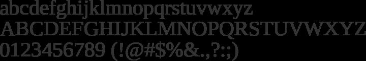 Liberation Serif Font Specimen