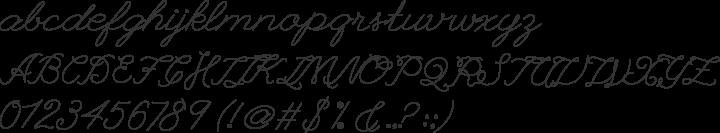 League Script #1 Font Specimen