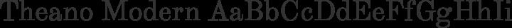 Theano Modern Regular free font