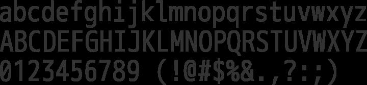 M+ 1m Font Specimen