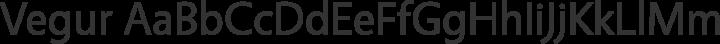 Vegur Regular free font