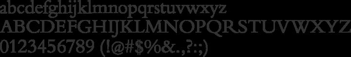 Borgia Pro Font Specimen