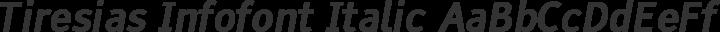 Tiresias Infofont Italic free font