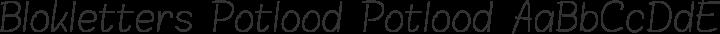 Blokletters Potlood Potlood free font