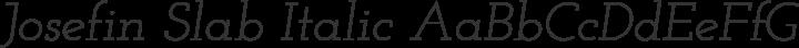 Josefin Slab Italic free font