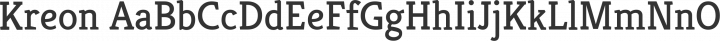 Kreon Regular free font