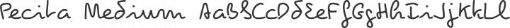 Pecita Medium free font