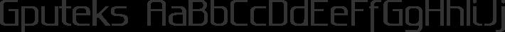 Gputeks font family by GLUK fonts