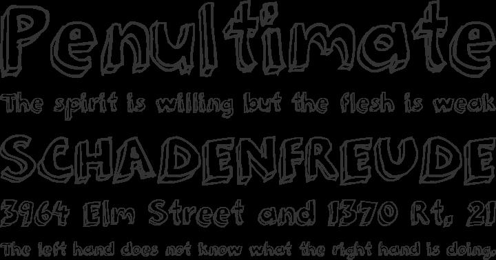 3Dumb Font Phrases