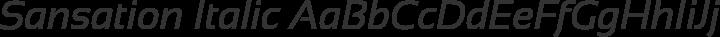 Sansation Italic free font