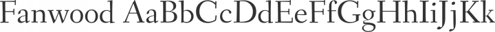 Fanwood Regular free font