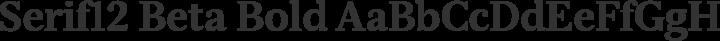Serif12 Beta Bold free font