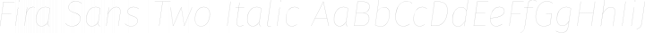 Fira Sans Two Italic free font