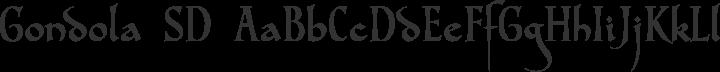 Gondola SD Regular free font