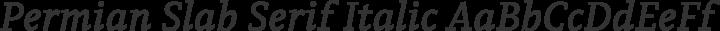 Permian Slab Serif Italic free font