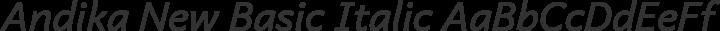 Andika New Basic Italic free font