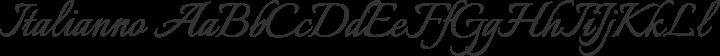 Italianno Regular free font
