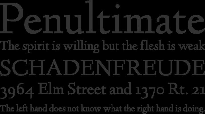 Linden Hill Font Phrases