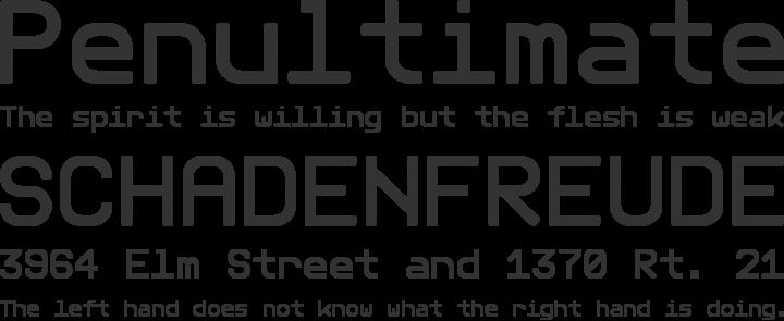Telegrama Font Phrases