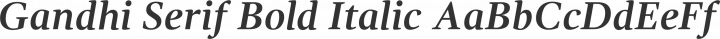 Gandhi Serif Bold Italic free font