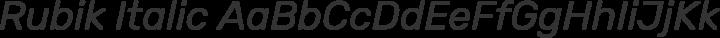 Rubik Italic free font