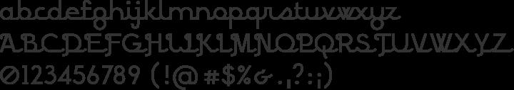 BPscript Font Specimen