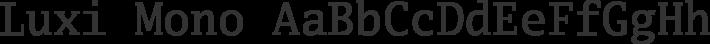 Luxi Mono font family by Bigelow & Holmes