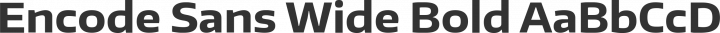 Encode Sans Wide Bold free font