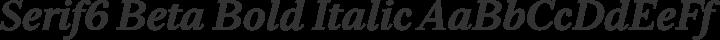 Serif6 Beta Bold Italic free font