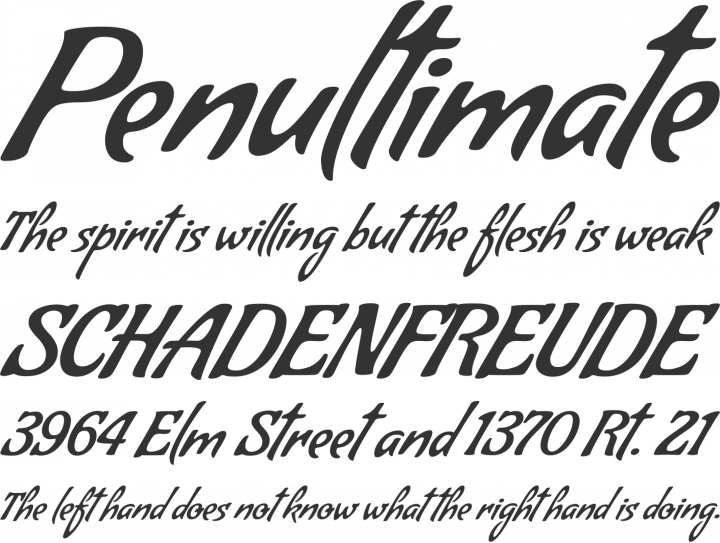 Condiment Font Phrases