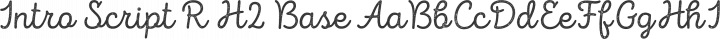 Intro Script R H2 Base free font