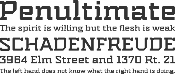 Indento Font Phrases