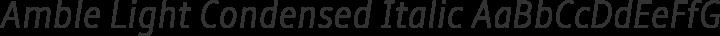 Amble Light Condensed Italic free font