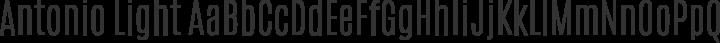 Antonio Light free font