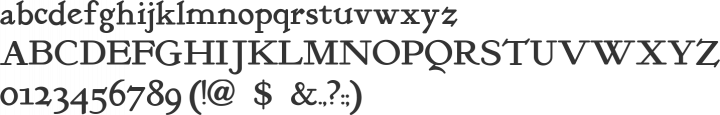 KelmscottRoman Font Specimen